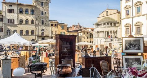 Антикварные рынки провинциальной Тосканы
