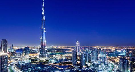 Вечерние огни Дубая