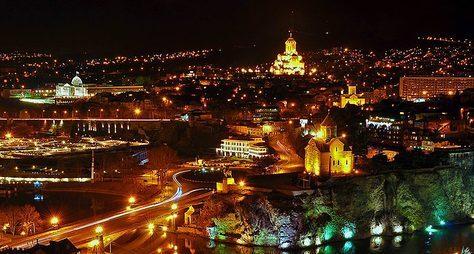 Огни ночного Тбилисо