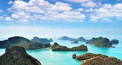 Тысяча иодин остров морского парка Анг Тонг