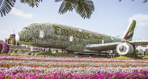 Парк цветов ивсемирная ярмарка Global Village вДубае