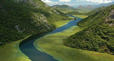 Скадарское озеро, Риека Црноевича иобед наводопаде