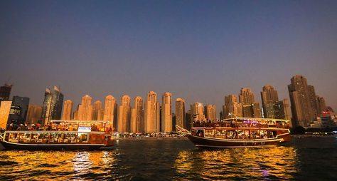 Современный Дубай икруиз поДубай Марине
