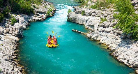 Рафтинг погорной реке