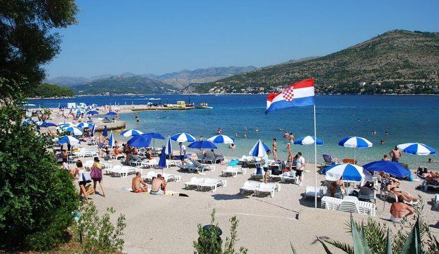 Пляж Копакабана в Дубровнике